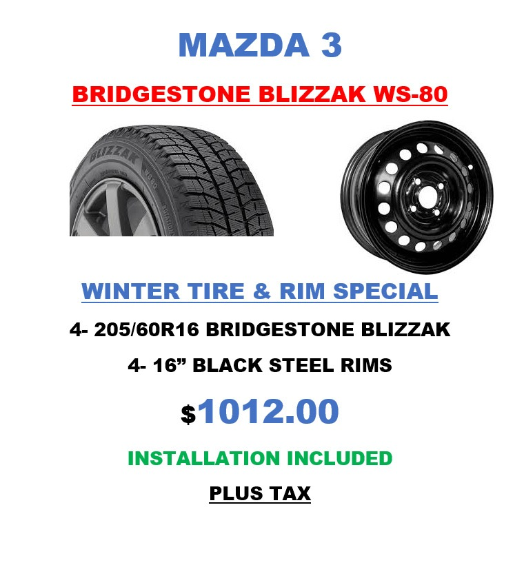 Mazda3 Bridgestone Tires