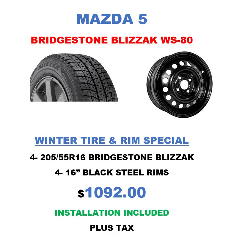 Mazda5 Bridgestone Tires