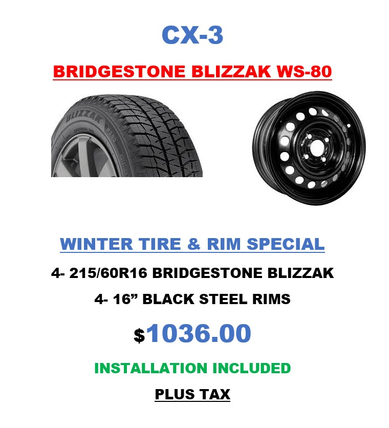 CX-3 Bridgestone Tires