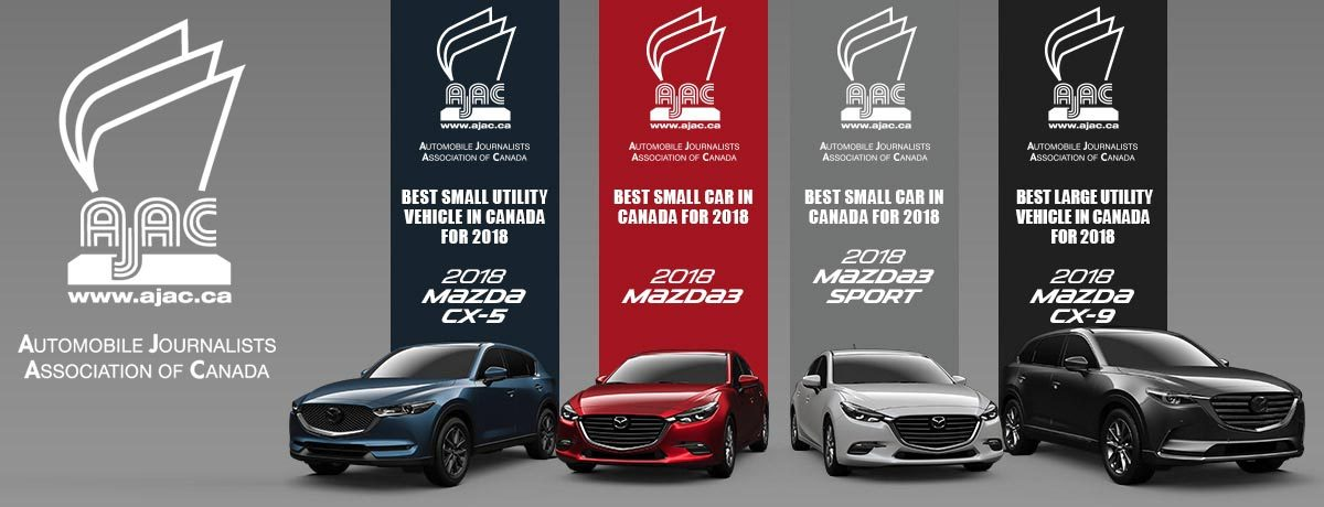 Mazda AJAC Award Winners for 2018