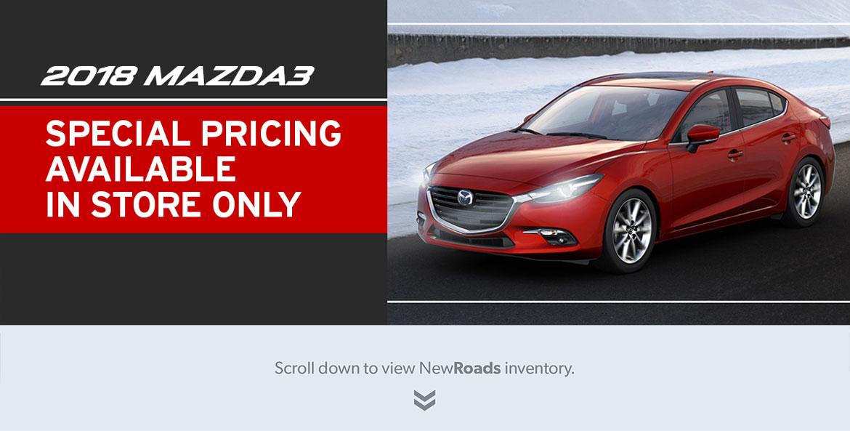 2018 Mazda3 pricing