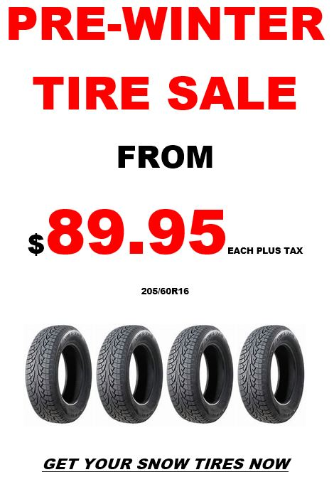 Pre-Winter Tire Sale